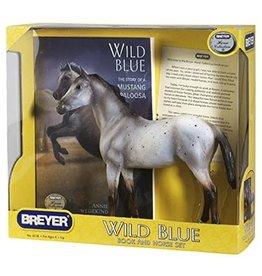 Breyer Wild Blue Horse & Book Set