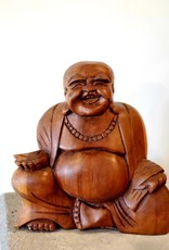 Hand Carved Laughing Buddha