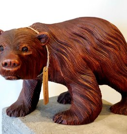 Hand Carved Bear Statue