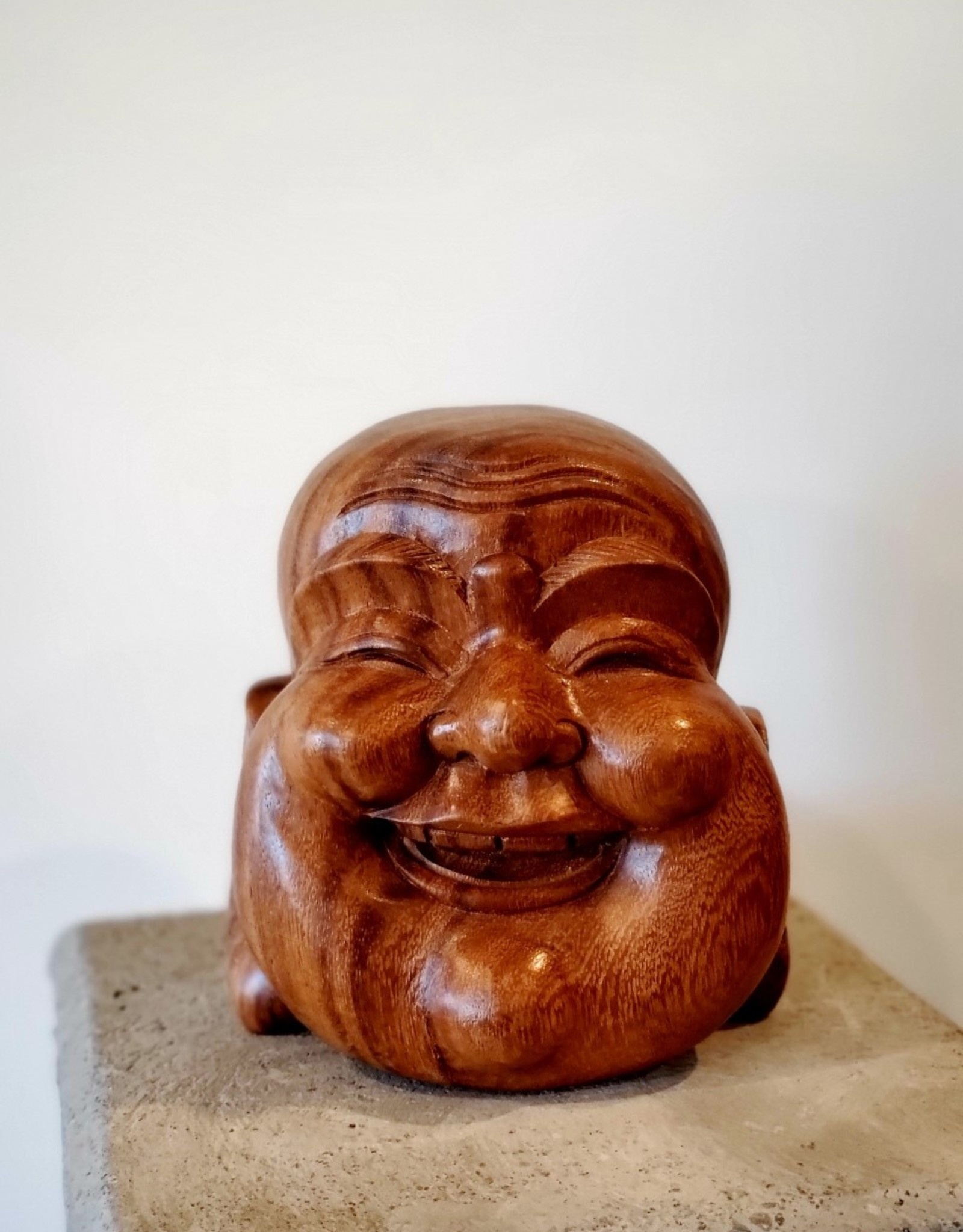 Laughing Buddha Head Scultpure
