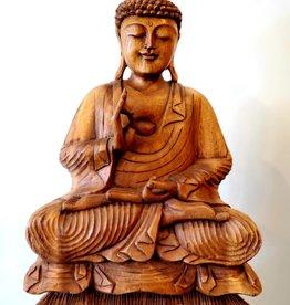 Hand Carved Serene Buddha Statue