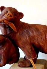 Handcarved Bear with Cub