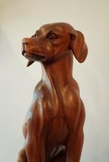 Hand Carved Dog Sculpture