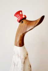 Bamboo Root Red Polka Dot Duck