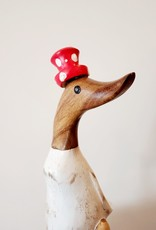 Bamboo Root Small Red Polka Dot Duck