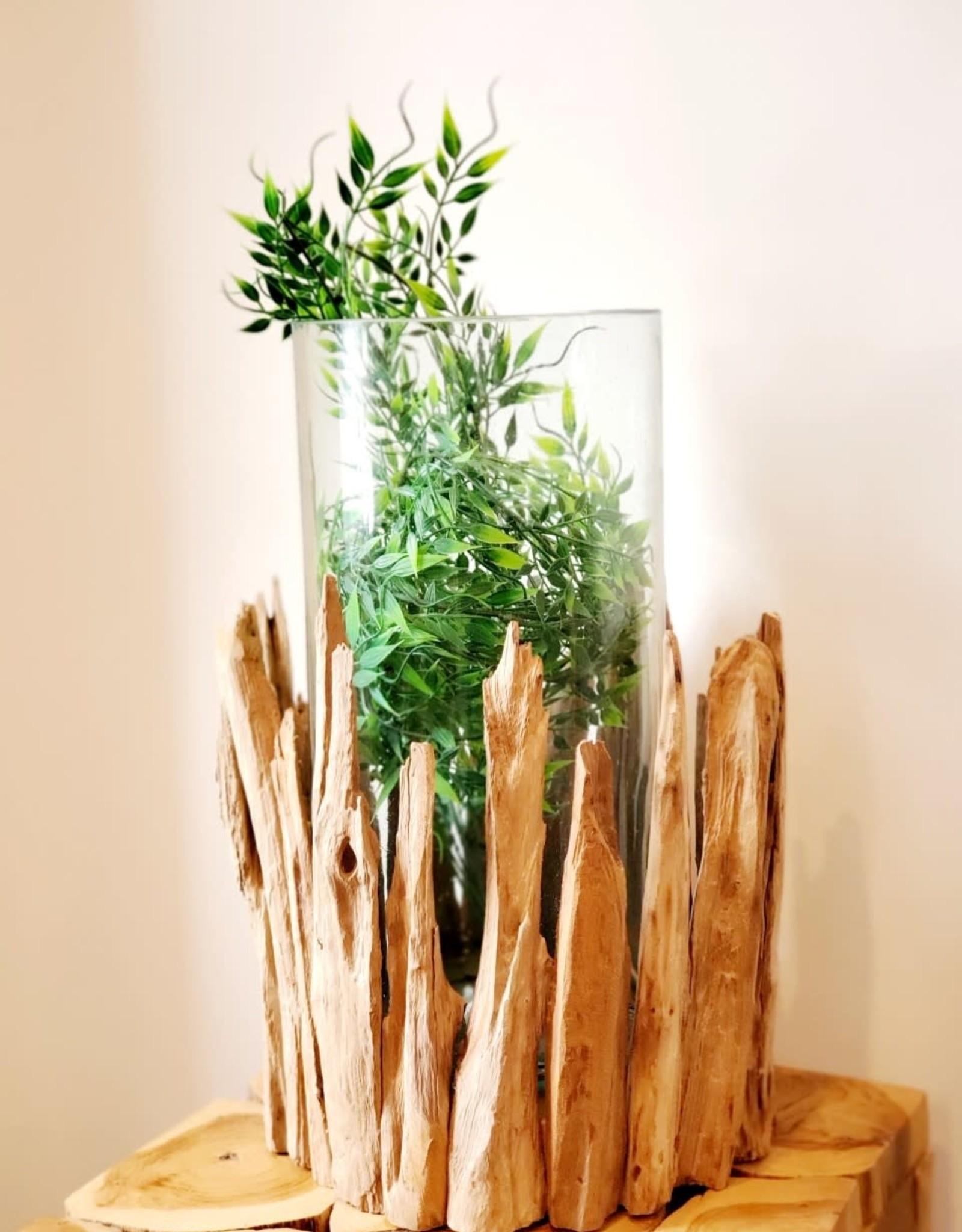 Handblown Hurricane Centerpiece Vase