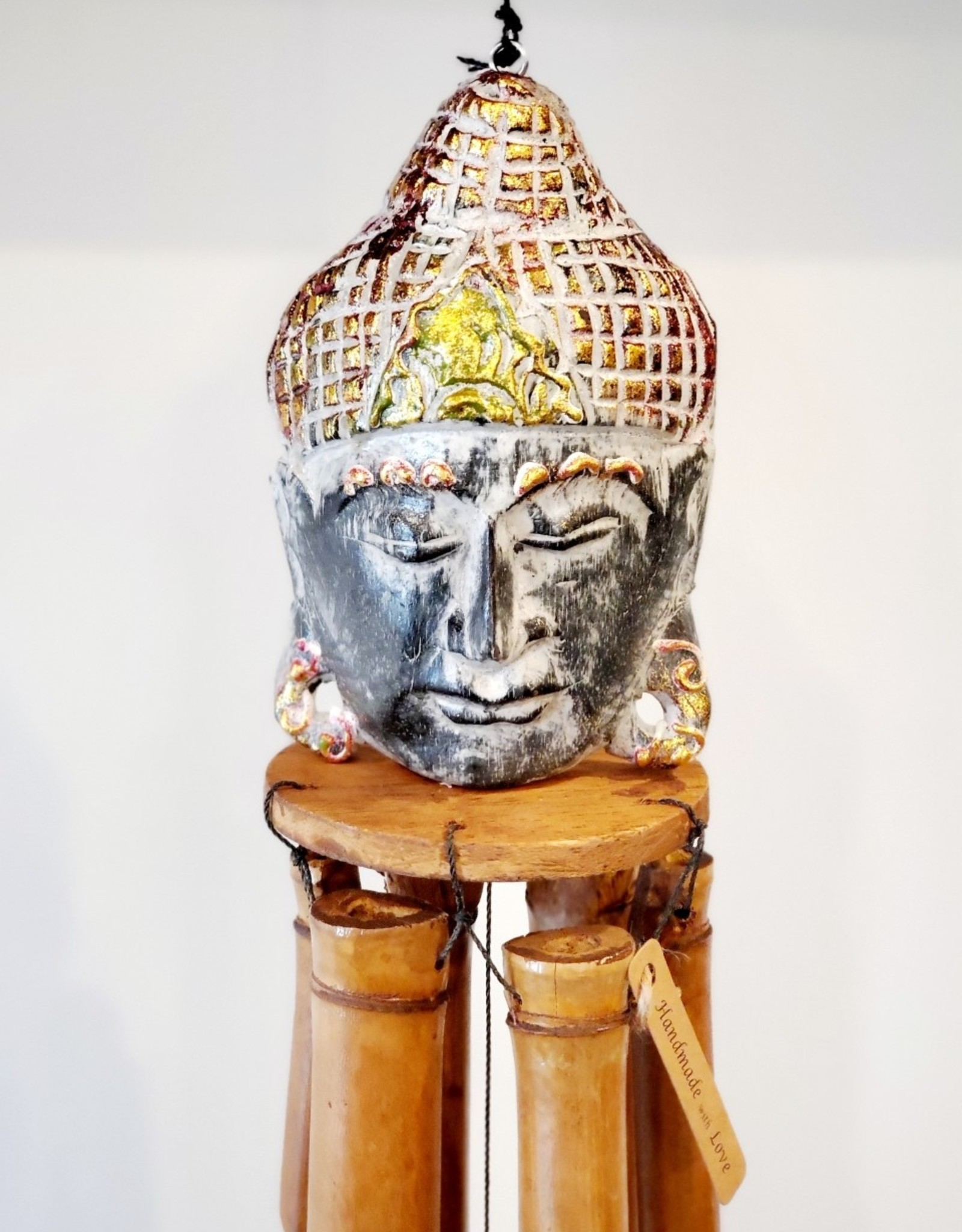 Wooden Buddha Chime Black