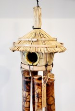 Wooden Bird House Chime Natural