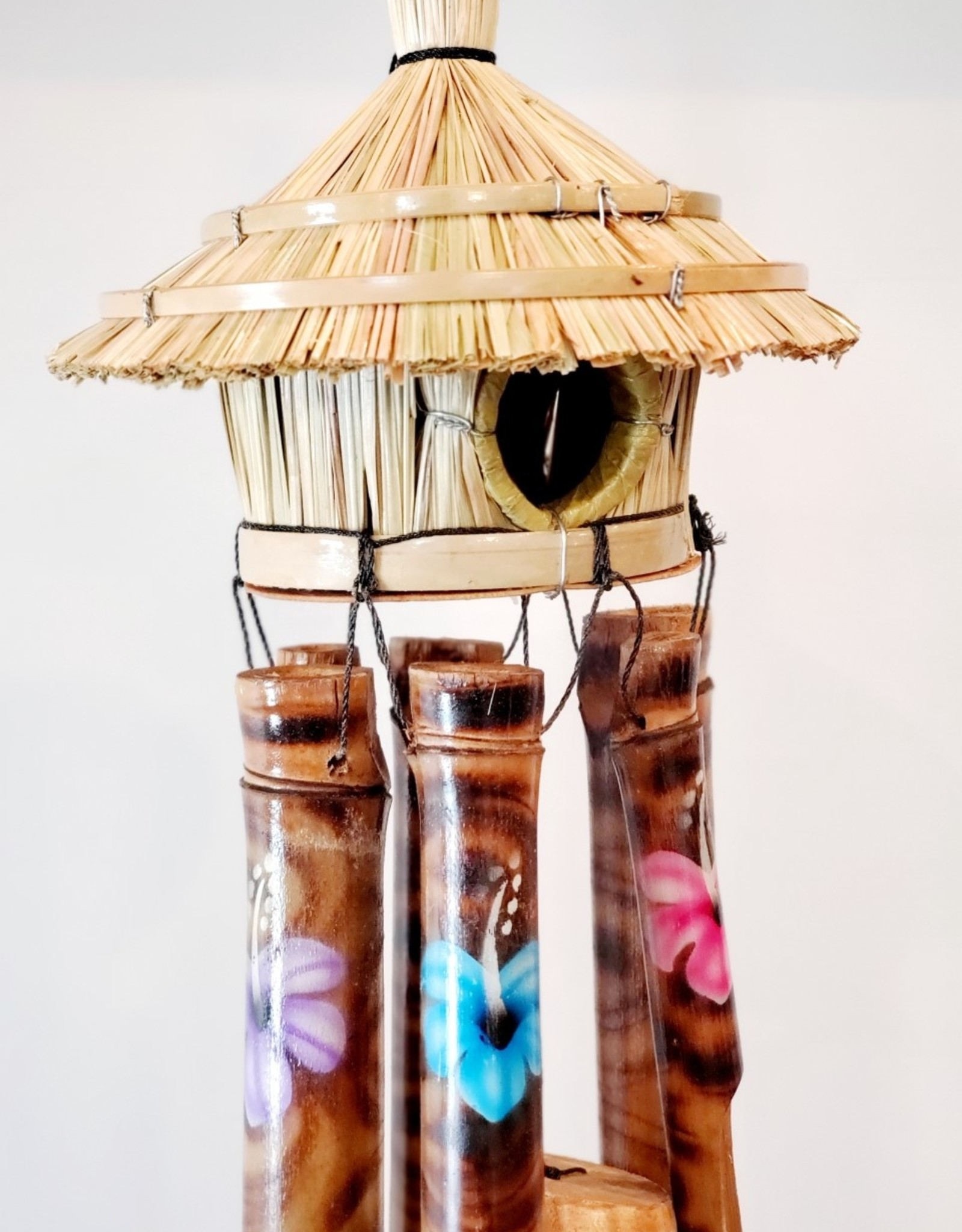 Wooden Bird House Chime Painted