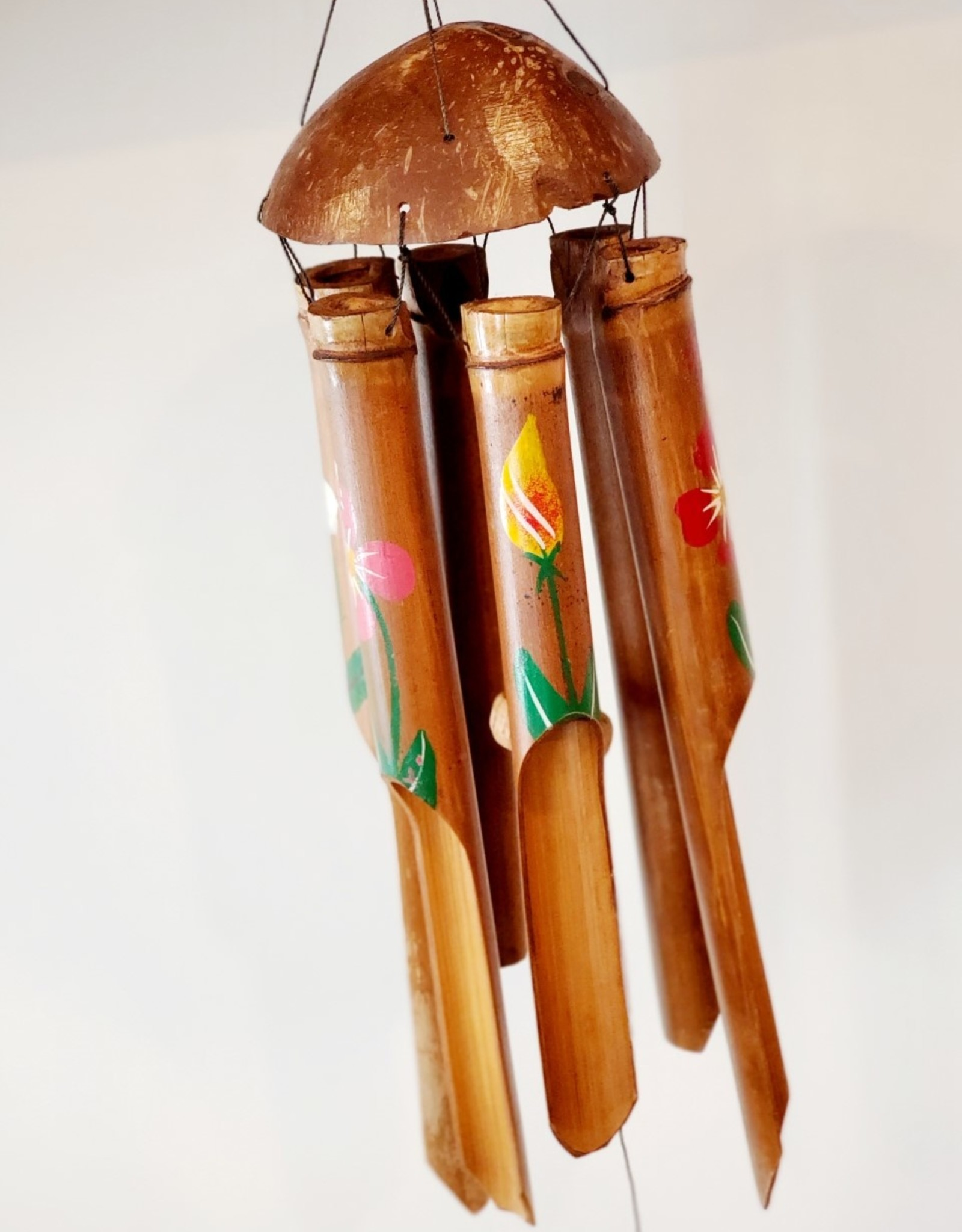 Wooden Bamboo Chime Painted