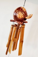 Wooden Turtle Chime Brown