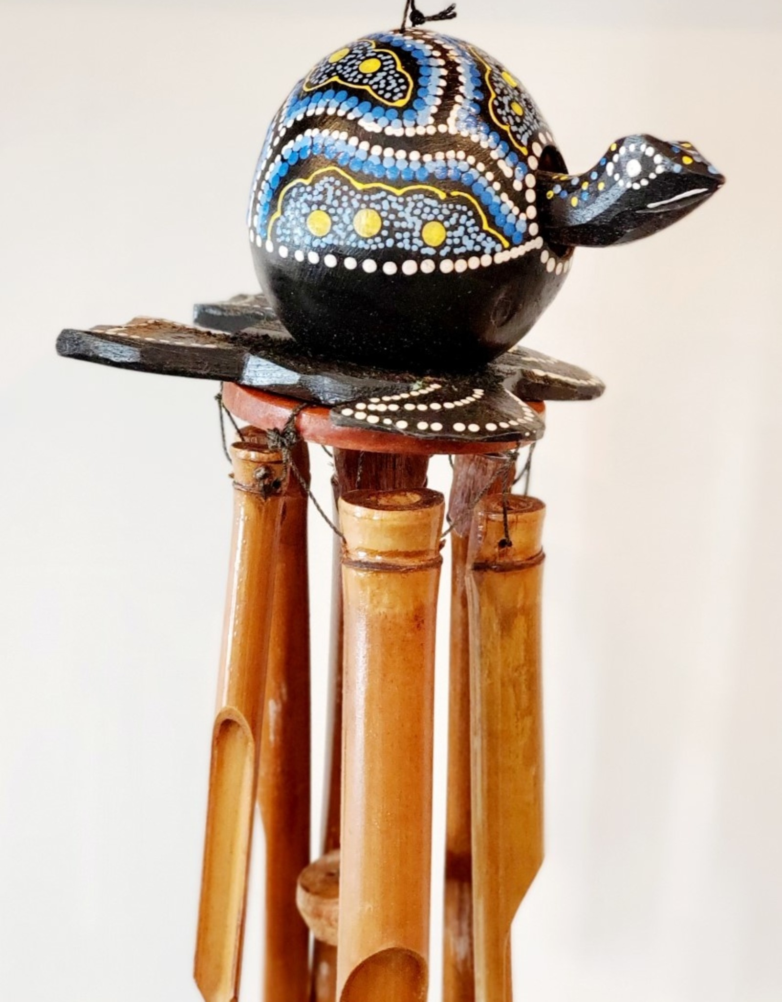 Wooden Turtle Chime Blue