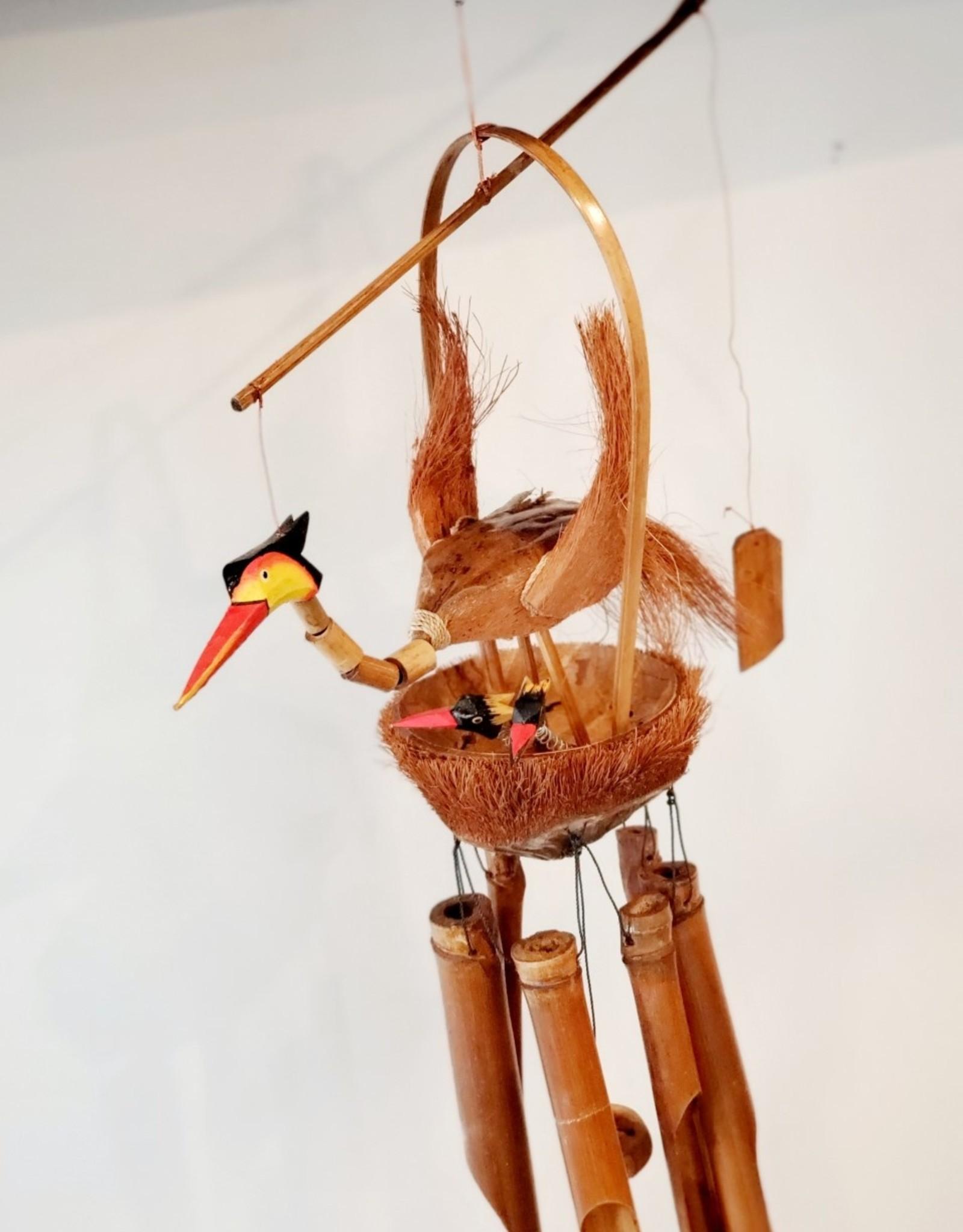 Wooden Bird Nest Chime