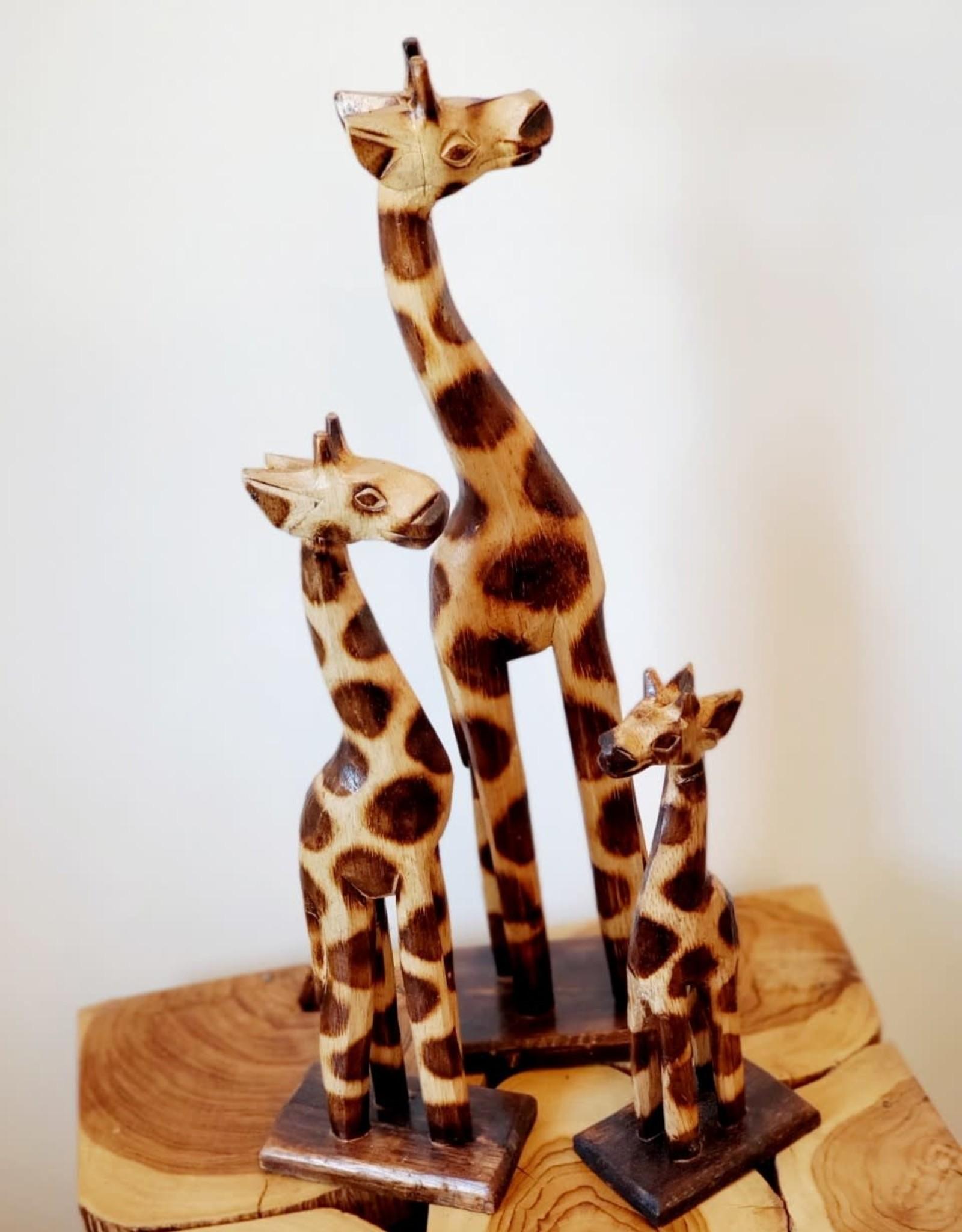 Set of 3 Wooden Giraffes