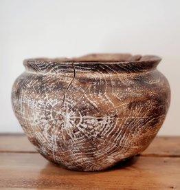 Whitewashed Teak Vase