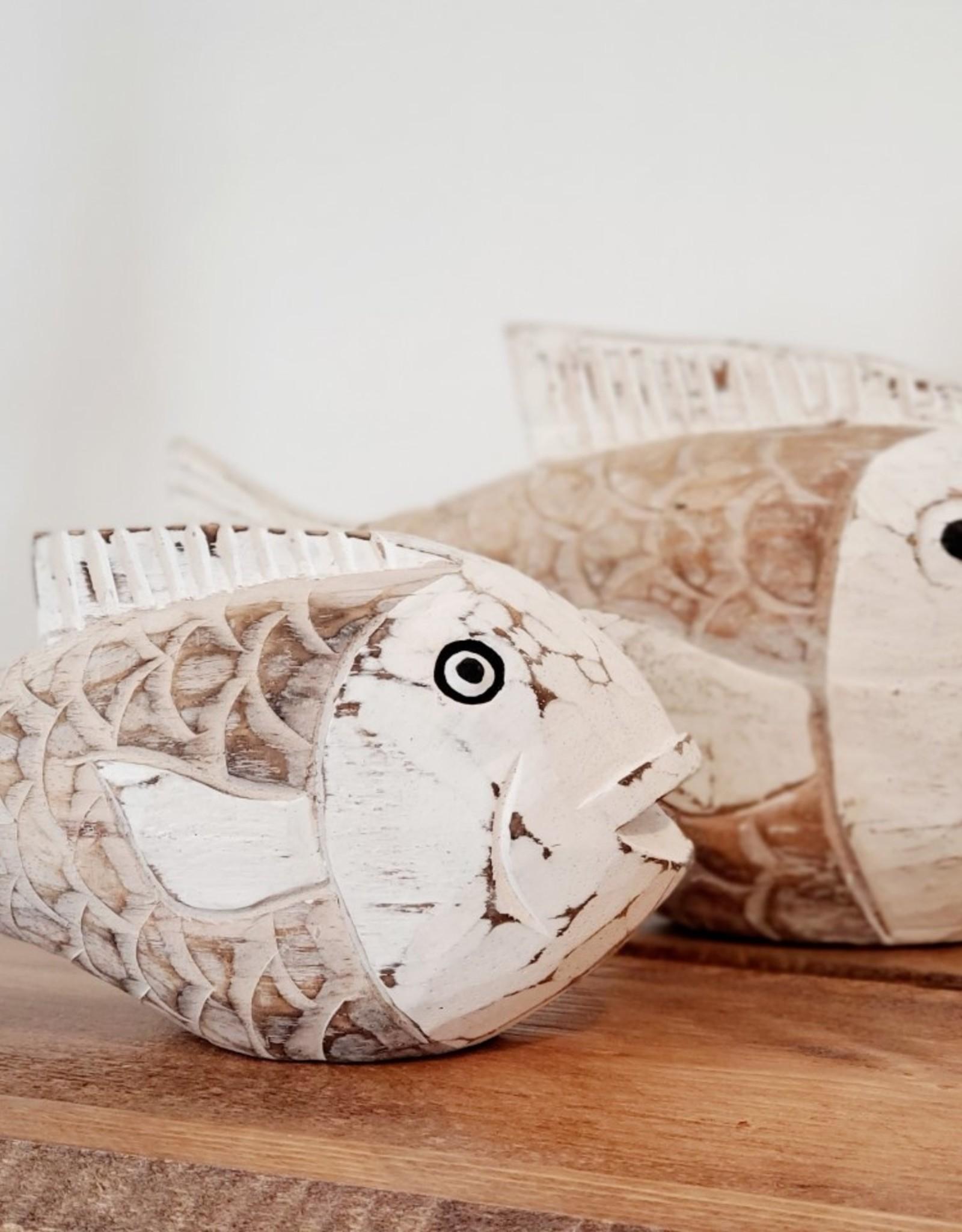 Set of 2 Fish Carvings