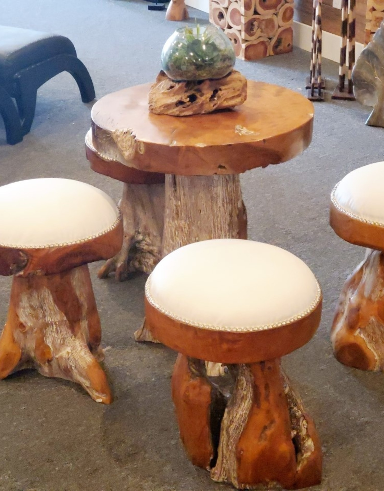 Teak Conversation Table Set