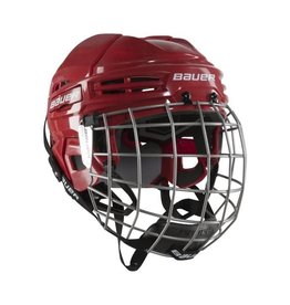 BAUER BAUER IMS 5.0 ROUGE COMBO CASQUE HOCKEY