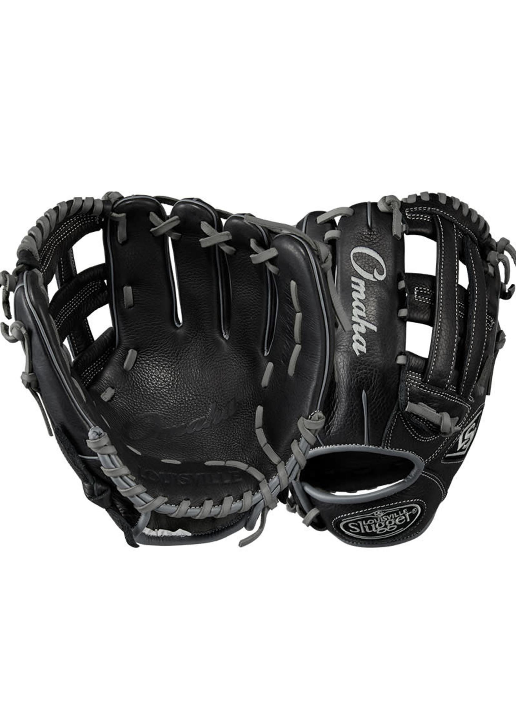 Louisville (Canada) LOUISVILLE Omaha Fielding Glove 11.50'', Dual Post Web 11.50''  REG Adult  Black