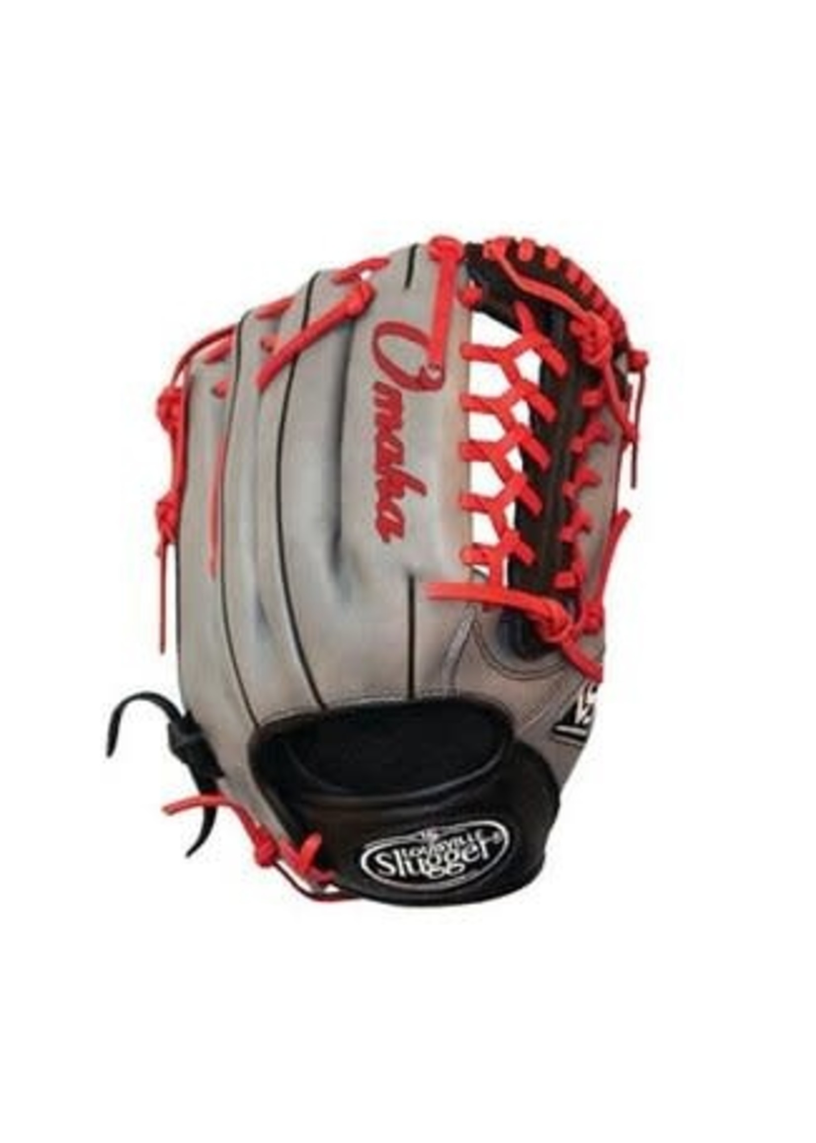 Louisville (Canada) LS LOUISVILLE SLUGGER FIELDING GLOVES  BASEBALL OMAHA FIELDING GLOVE 11.75 REG STEEL GRAY-BLACK-RED