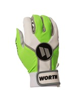 WORTH WORTH BATTING GLOVES VERT/BLANC ADULT
