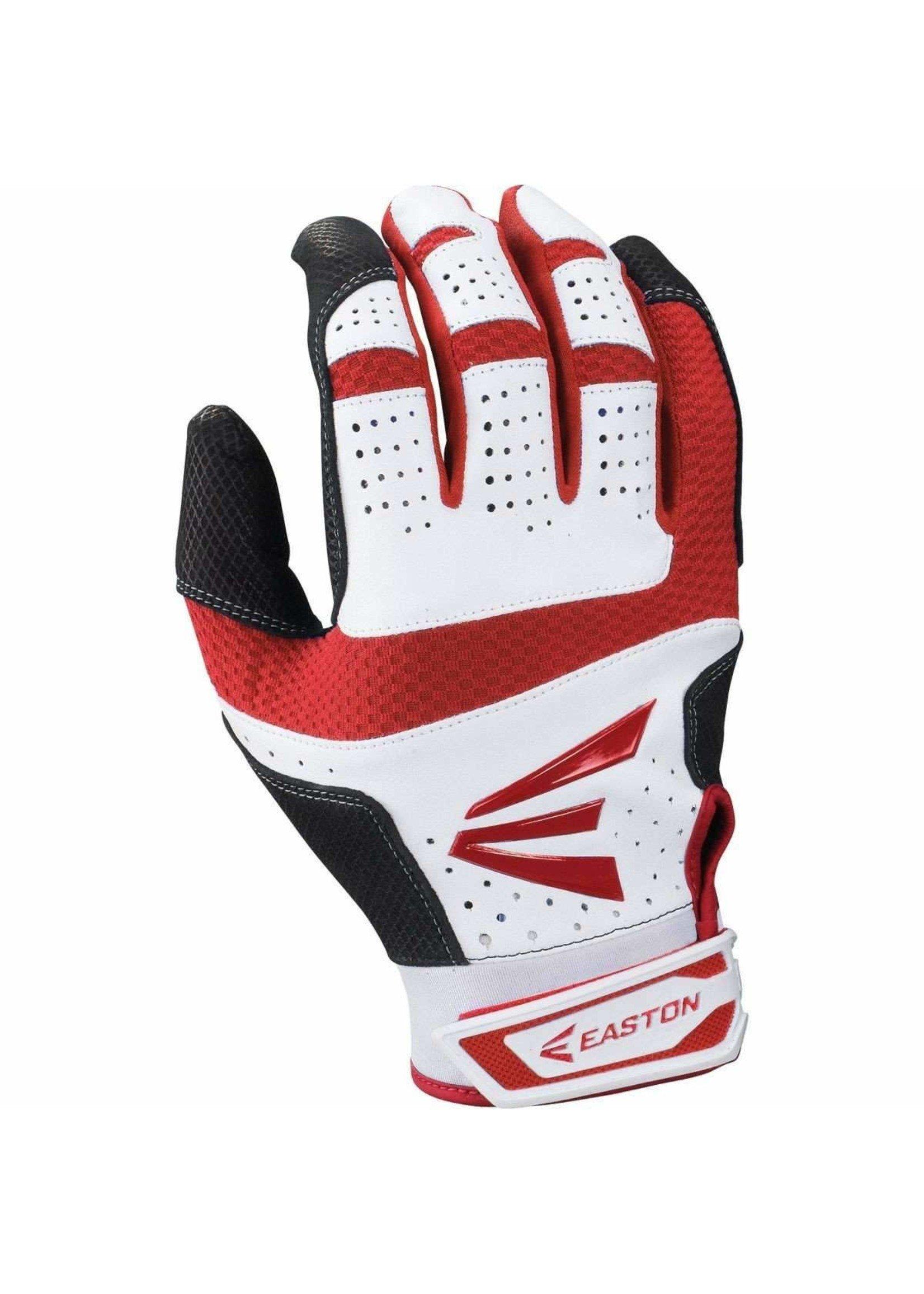 Easton Baseball (Canada) EASTON HS9 BATTING GLOVES ROUGE/BLANC ADULT