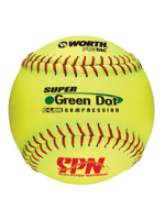 "WORTH WORTH GREEN DOT 11"" BALLE SOFTBALL"