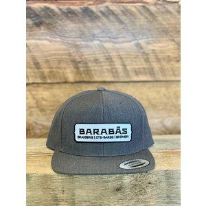 Grey snapback cap B/W logo