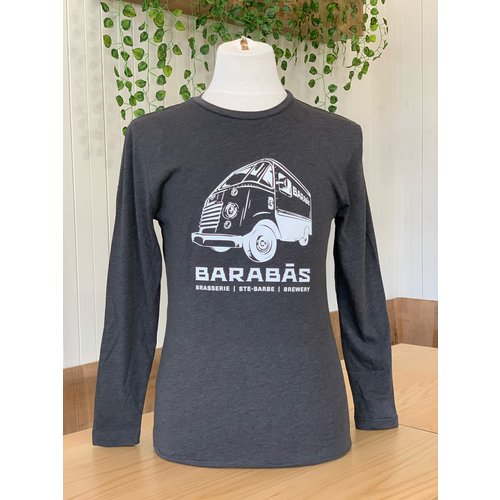 Grey long sleeve Bus Logo
