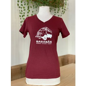 Burgundy Truck T-Shirt for Women