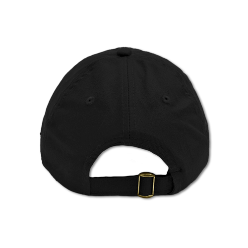 Black cotton dad hat