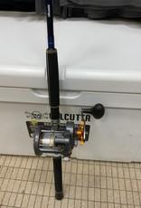 "OKUMA FISHING TACKLE CORP. COMBO: OKUMA BLUE DIAMOND 8'6"" TROLLING ROD / OKUMA COLD WATER 453D REEL w/ 30lb SEA FLEA MONO"
