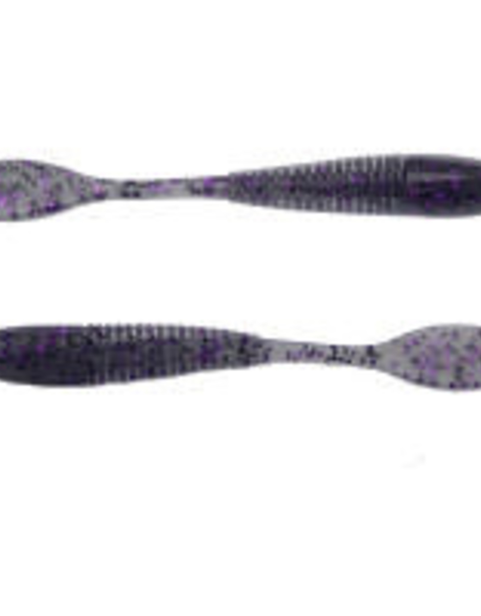"Big Bite Baits, Inc. 3.5"" Smallie Smasher Smoke Purple Flake"