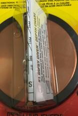 "Luhr-Jensen 1 Dipsy Diver 4-1/8"" Metallic Copper"