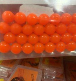 Lick-Em-Lure Company, Inc. Lick-Em-Lures Candy Egg Chain 8mm 4 chains of 7 eggs = 28 eggs UV- Fluorescent Orange