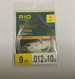 Rio SALMON/STEELHEAD GLACIAL GREEN 9FT 10LB LEADER 3-PACK