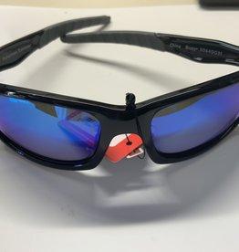 ICU EYEWEAR Fisherman Eyewear Buoy Shinny Blk/Gray Frame Gray Blue Mirror Lense