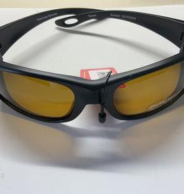 ICU EYEWEAR Fisherman Eyewear Grander Matte Black Frame / Amber Lens(F.E.)