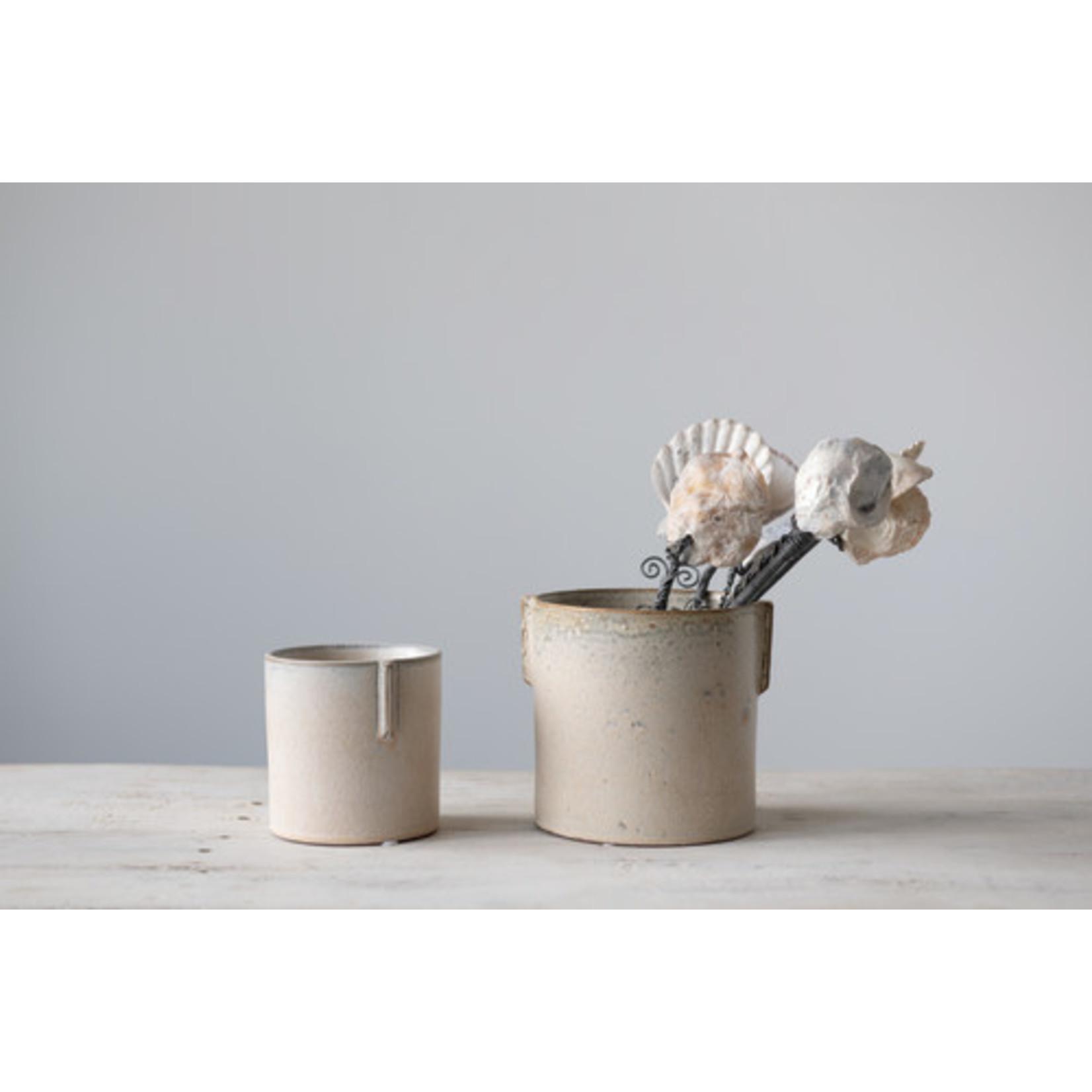 Stoneware Pot with Tab Handles