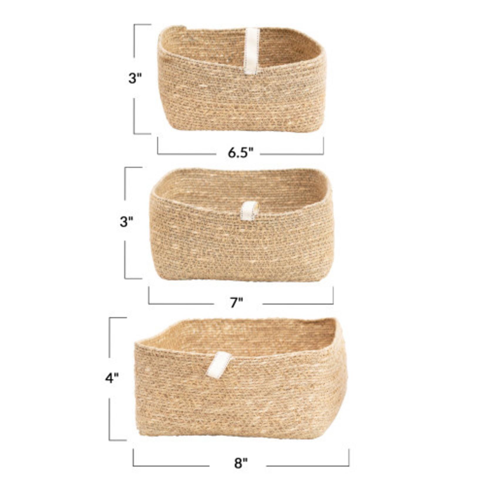 Seagrass basket w/ Tab