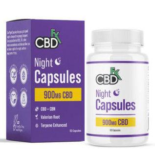 cbdFX CBDfx PM Night CBD + CBN Capsules - 60ct Bottle - 900mg