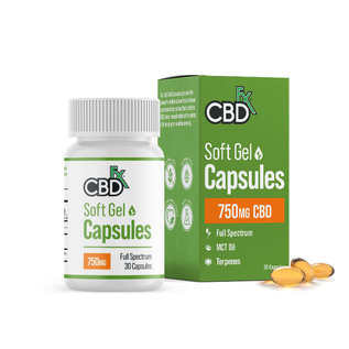 cbdFX CBDfx Softgel Capsules - 30ct Bottle - 750mg