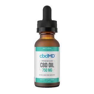 cbdMD cbdMD Oil Tincture Drops 750mg - Mint, Orange, Berry, Natural 30mL