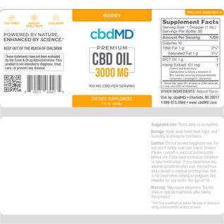 cbdMD cbdMD Oil Tincture Drops 3000mg - 30ml