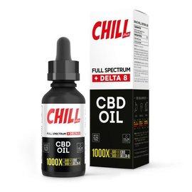 Chill Chill Plus Full Spectrum Delta-8 CBD Oil - 1000X