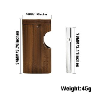 Unbranded Dugout Wood Exposed Glass One Hitter