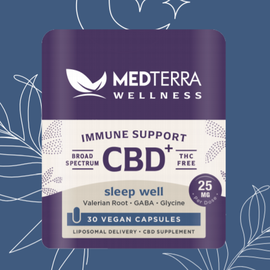 MedterraCBD Medterra Wellness CBD + Sleep Capsules, 25mg, 30ct