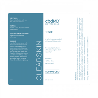 cbdMD cbdMD Botanicals - CBD Clearskin Toner 8 OZ SPRAY BOTTLE - 500 MG