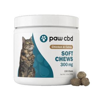 cbdMD Paw CBD Feline Soft Chews 150 Count Chicken and Catnip