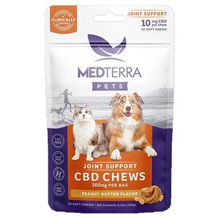 MedterraCBD Medterra Pet CBD Hip & Joint Peanut Butter Chews, 300mg, 30ct
